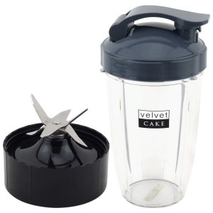 24 oz Tall Cup with Flip To Go Lid + Extractor Blade for NutriBullet Lean NB-203 1200W Blender