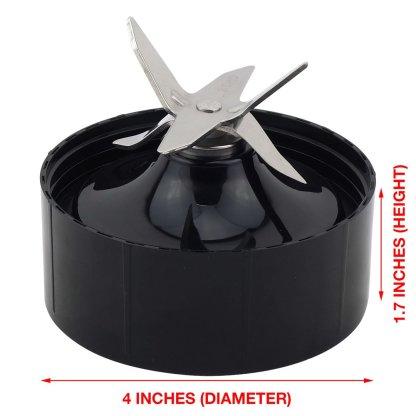 18 oz 24 oz Cups with Flip To Go Lids & Extractor Blade Upgrade Kit for NutriBullet Lean NB-203 1200W Blender