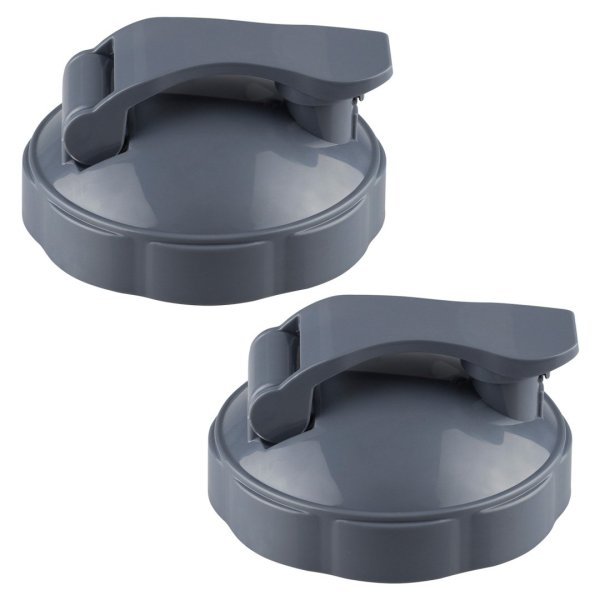 2 Pack Flip Top To-Go Lids Replacement Part Compatible with NutriBullet NB-101B NB-101S NB-201