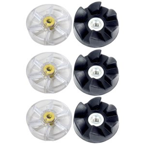 3 Pack Motor Gear and Rubber Gear Replacement Parts Compatible with NutriBullet 600W 900W Blenders NB-101B NB-101S NB-201