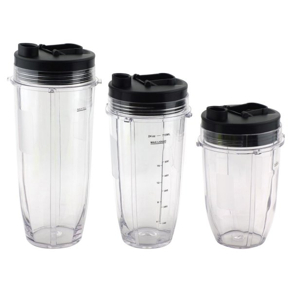 Nutri Ninja 18 oz, 24 oz, 32 oz Cups with Spout Lids Replacement Parts 427KKU450 483KKU486 407KKU641 528KKUN100