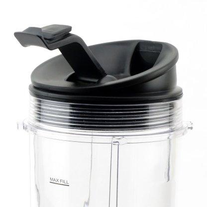 2 Nutri Ninja Jumbo Multi-Serve 32 oz Cups with Sip & Seal Lids and 1 Extractor Blade Replacement Combo 407KKU641 408KKU641 409KKU641
