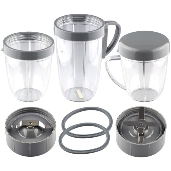 NutriBullet 18 oz & 24 oz Cups + Extractor and Milling Blades + 2 Gaskets Combo