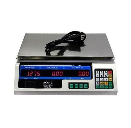 Digital Weight Scale 60LB Price Computing Food Meat Produce Deli