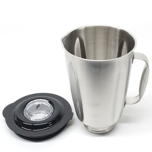 Stainless Steel Jar with Handle and Lid for Oster Osterizer Blenders