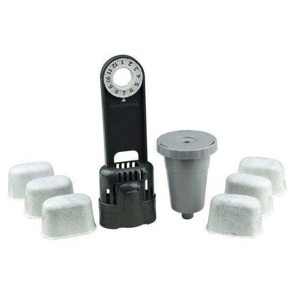 Keurig Water Filter Holder + 6 Charcoal Water Filters + 1 My K-Cup 1.0