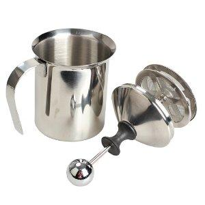 BlenderPartsUSA 400ml Stainless Steel Milk Frother Double Mesh