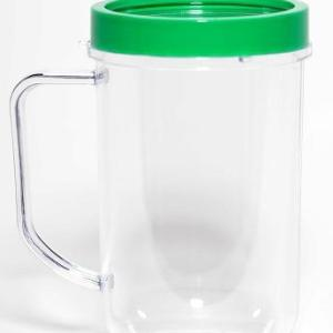 Green Party Cup Mug Replacement Part Compatible with Magic Bullet 250W MB1001