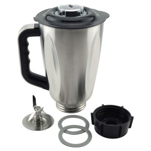 6-Cup Stainless Steel Jar 6-Piece Replacement Set for Oster Osterizer Blenders