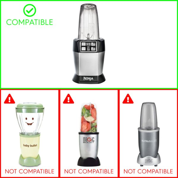Compatible with Nutri Ninja Auto-IQ Blenders