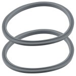 2 Pack Gray Gasket Replacement Parts Compatible with NutriBullet 600W 900W Blenders NB-101B NB-101S NB-201
