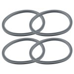 4 Pack Gray Gasket Replacement Parts Compatible with NutriBullet 600W 900W Blenders NB-101B NB-101S NB-201