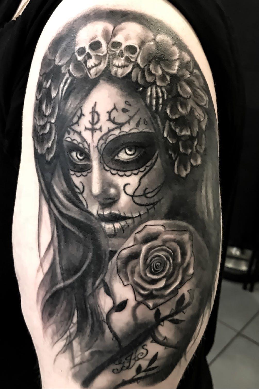 Caveira Mexicana Catrina Tattoo
