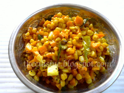 Carrot Senagapappu koora ~ Carrot Curry with Gram Dal
