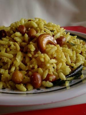 Maramarala Pulihora ~ Puffed Rice With Tamarind