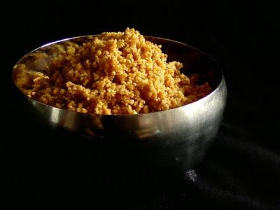 Palleela Kobbari Podi ~ Spicy Peanuts and Coconut Powder