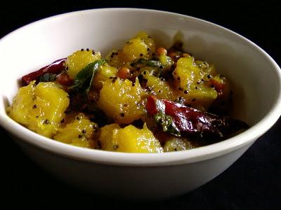 Gummadikaya Teepi Koora ~ Red Pumpkin Sweet Curry