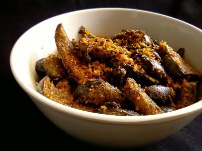 Vankaya Nuvvula Vepudu ~ Eggplants Fry with Sesame Seeds