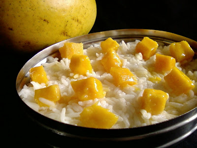 Mango with Yogurt Rice