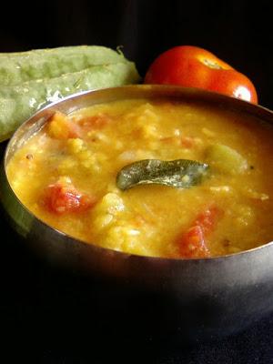 Beerakaya Masala Pappu ~ Spicy Ridge Gourd Dal