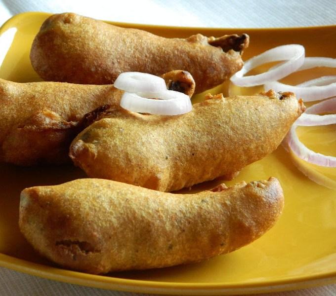 Capsicum Bajji ~ Bell Pepper Fritters