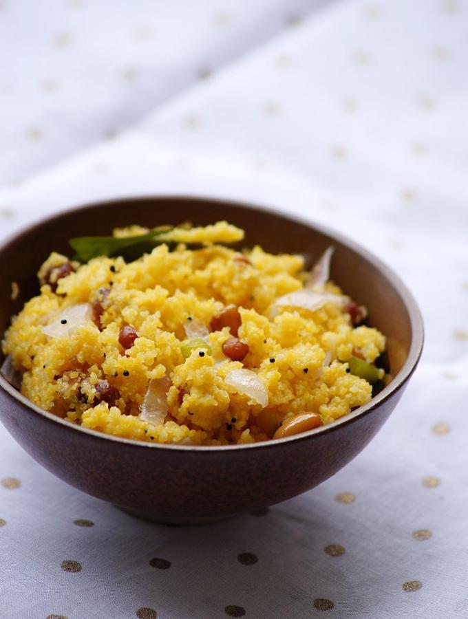 Cornmeal Upma Recipe – Indian Upma Recipes