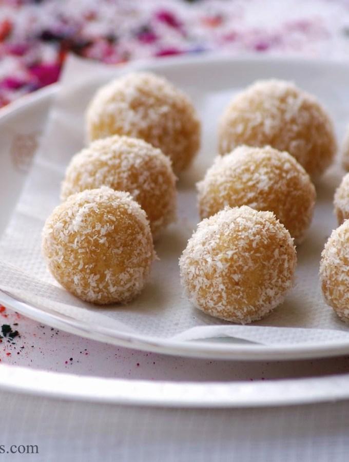 Khoya Coconut Jaggery Laddu Recipe – Step by Step Recipe – Holi Special Recipes