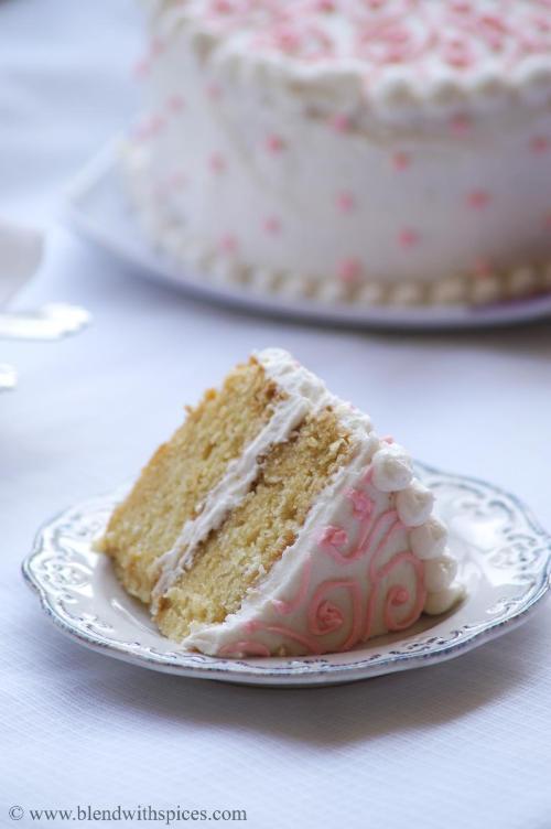Eggless Vanilla Cake With Vanilla Buttercream Frosting Eggless - Birthday cake vanilla