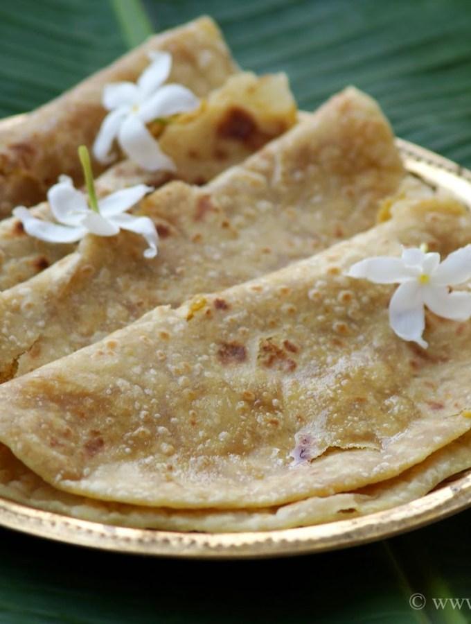Puran Poli Recipe – Bobbatlu Recipe – Holige – Obbattu – Pooran Poli Recipe – Step by Step Photos