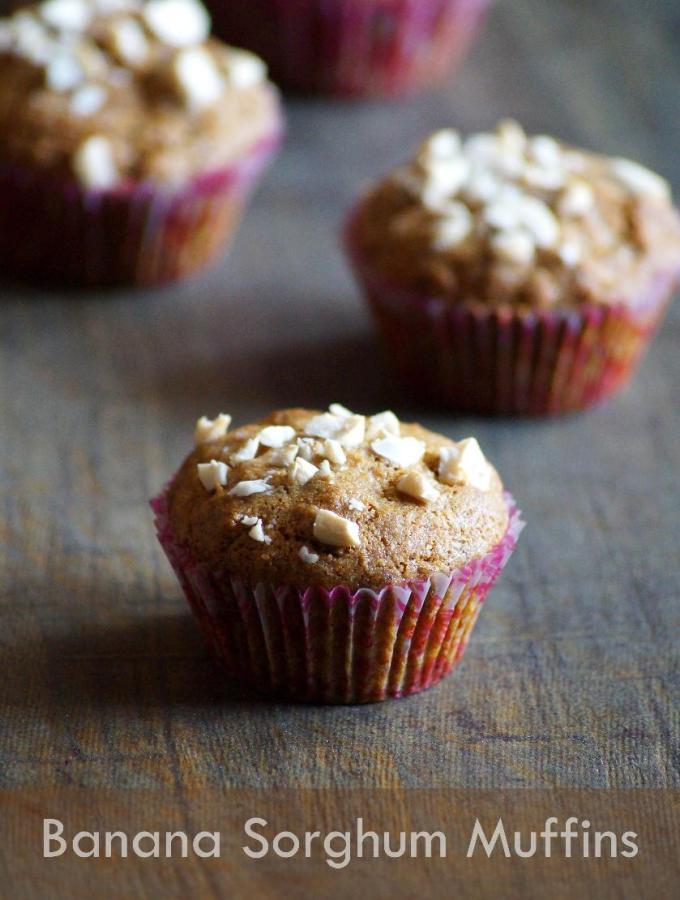 Eggless Jowar Banana Muffins Recipe – Vegan Banana Sorghum Muffins Recipe