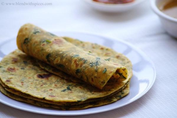 methi roti recipe, how to make fenugreek paratha, north indian paratha recipes