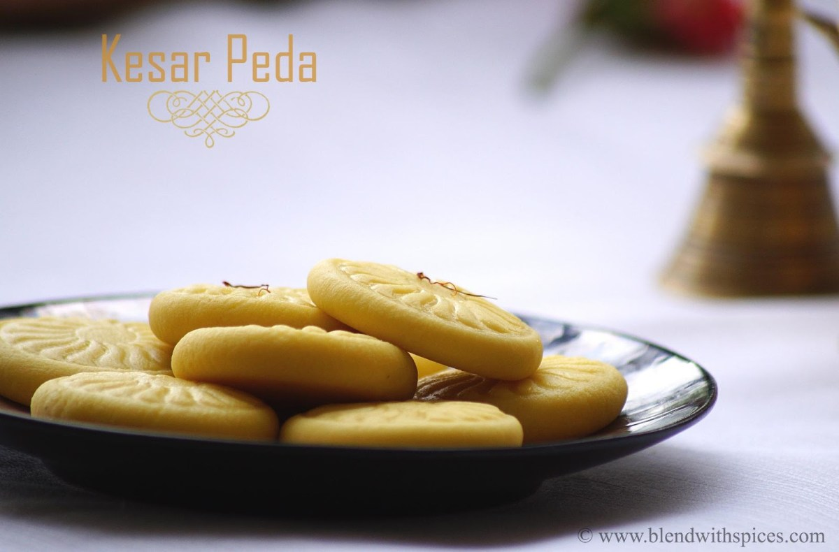 Kesar Peda Recipe - Step by Step Recipe - Krishna Janmashtami Special Recipes