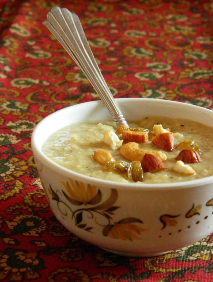 Kobbari Korra Biyyam Payasam ~ Millet and Coconut Kheer