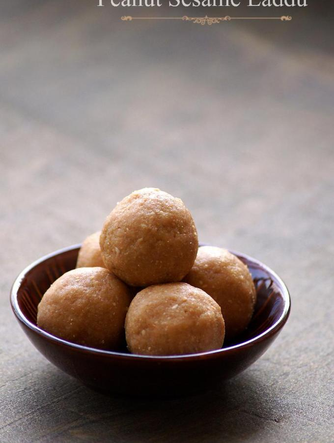 Peanut Sesame Ladoo Recipe – Palli Nuvvula Laddu Recipe – Step by Step Recipe