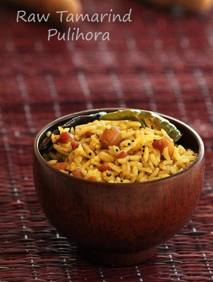 Chintakaya Pulihora Recipe – How to make Raw Tamarind Rice – Varalakshmi Vratham Naivedyam Recipes