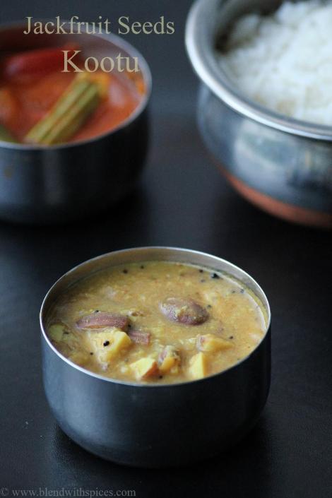 how to make palakottai kootu, Jackfruit seed kootu recipe, jackfruit seeds recipes, tamil cuisine