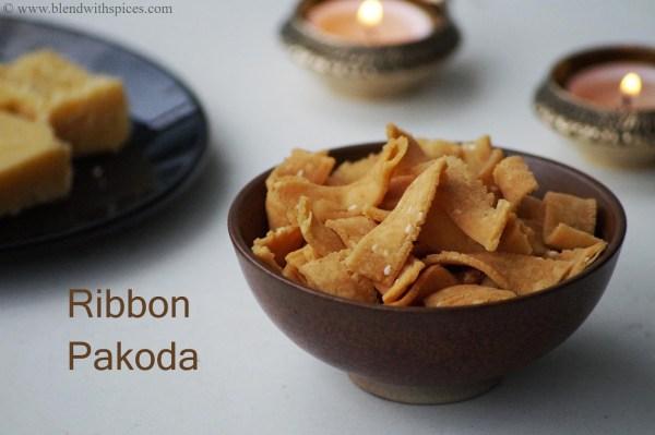 ribbon pakoda recipe, how to make ribbon pakoda, diwali snacks recipes