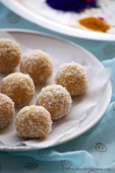 khoya coocnut jaggery laddu recipe, sweet recipes with khoya