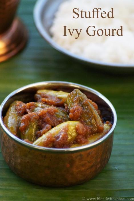 how to make stuffed tindora, dondakaya recipes, gutti dondakaya recipe, ulli karam recipe, andhra recipes
