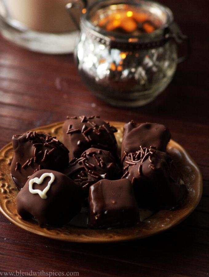 Chocolate Covered Ice Cream Bites Recipe – Valentines Day Special Recipes