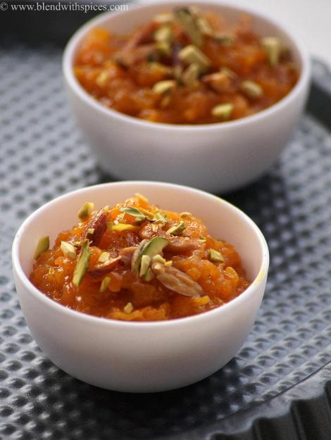 carrot coconut milk halwa recipe with step by step photos, holi sweets recipes | blendwithspices.com