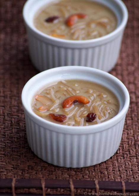 how to make semiya payasam with jaggery coconut milk, ugadi naivedyam recipes | blendwithspices.com