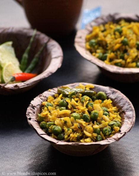 banarasi recipes, poha recipes, healthy breakfast recipes, blendwithspices.com