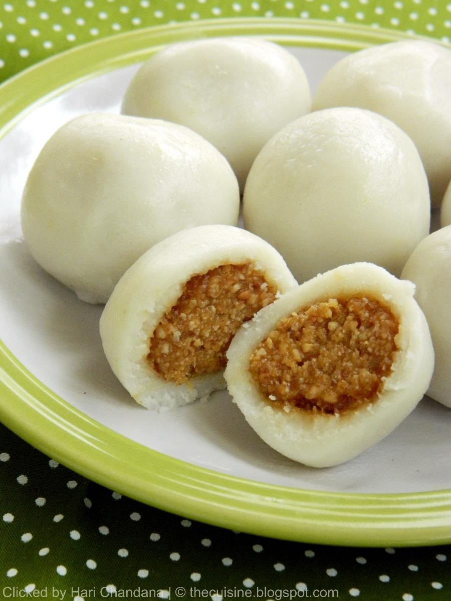 Peanut Kozhukattai ~ Steamed Rice Dumplings with Peanut & Coconut Stuffing ~ Peanut Modak Recipe