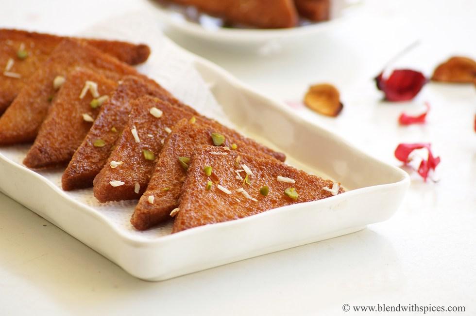 sweet bread recipe, shahi toast recipe, how to make chasni bread