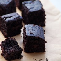 Healthy Vegan Avocado Brownies Recipe - How to Make Eggless Chocolate Brownies