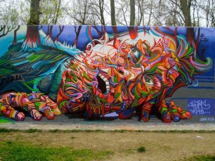 """Psychedelic is everywhere 2, Facebook page """"Global Street Art"""" https://www.facebook.com/photo.php?fbid=320416678071111&set=a.159223504190430.32338.116159958496785&type=1&theater"""