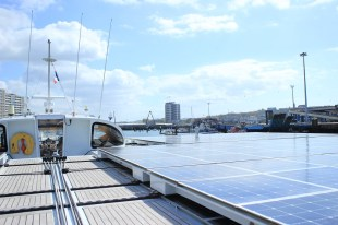 Stopover in Boulogne-sur-Mer Credit: PlanetSolar 2014