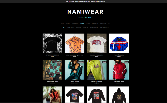 NamiWear Site