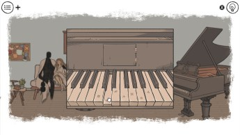When the Past Was Around Game Piano Puzzle